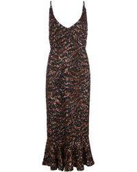Saloni スパンコール ドレス - マルチカラー