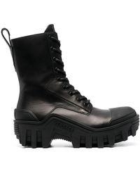 Versace Ботинки Delphi На Шнуровке - Черный