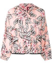 Moncler Floral Printed Bomber Jacket - Розовый