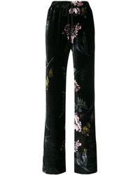 Markus Lupfer Floral Print Trousers - Zwart