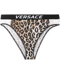 Versace レオパード ショーツ - ブラック