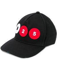 DSquared² ロゴパッチ キャップ - ブラック