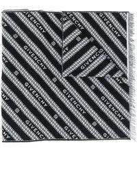 Givenchy ロゴジャカード スカーフ - ブラック