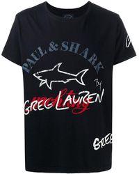 Paul & Shark ロゴ Tシャツ - ブラック