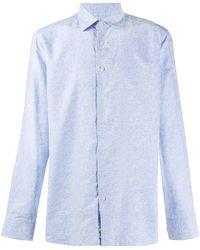 Etro Рубашка С Логотипом - Синий