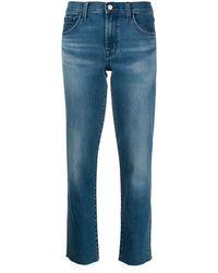 J Brand High Rise Cropped Jeans - ブルー