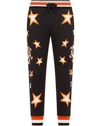 Dolce & Gabbana Pantaloni sportivi con stampa - Nero