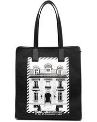 Karl Lagerfeld Сумка-тоут Maison Из Канваса - Черный