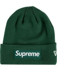 Supreme New Era Box Logo Beanie - Green