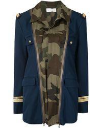 Faith Connexion Military Detail Jacket - Blue