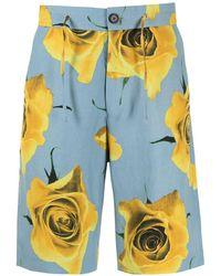 Paul Smith Bermudas con estampado floral - Azul