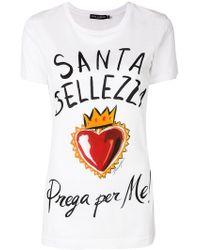 Dolce & Gabbana - Sacred Heart Print T-shirt - Lyst