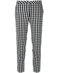 Twin Set - Gingham Cropped Trousers - Lyst