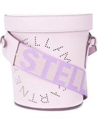 Stella McCartney Stella Logo Bucket Bag - Purple