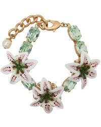 Dolce & Gabbana - Flower Embellished Bracelet - Lyst