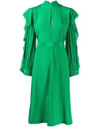 Golden Goose Deluxe Brand Ruffle Sleeve Dress - Зеленый