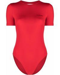 Balenciaga Maillot de bain à dos ouvert - Rouge