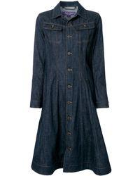 Ralph Lauren Collection パネルデニムドレス - ブルー