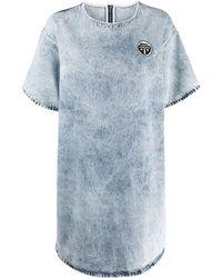 MM6 by Maison Martin Margiela Джинсовое Платье Из Вареного Денима - Синий