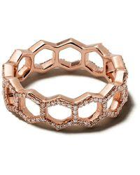 Astley Clarke Honeycomb ダイヤモンドリング - メタリック