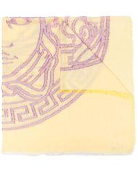 Versace Шарф С Принтом Medusa - Желтый