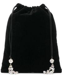 Ca&Lou Декорированный Клатч На Шнурке - Черный