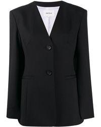 Enfold Collarless Jacket - Black