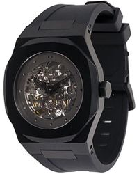D1 Milano Skelet Horloge - Zwart