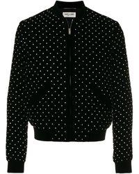 Saint Laurent Studded Bomber Jacket - Zwart