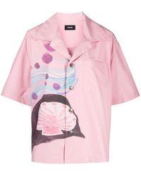 we11done アブストラクトパターン シャツ - ピンク
