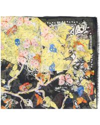 Zadig & Voltaire フローラル スカーフ - ブラック