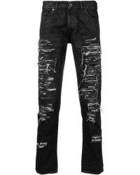 Diesel Black Gold - Destroyed Slim-fit Jeans - Lyst
