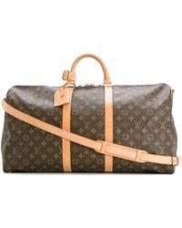 Louis Vuitton Keepall Reisetasche, 55cm - Braun