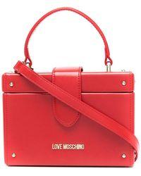 Love Moschino Каркасная Сумка С Верхней Ручкой - Красный