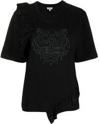 KENZO タイガー ラッフル Tシャツ - ブラック