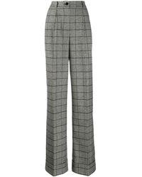Dolce & Gabbana チェック パンツ - ブラック