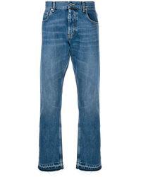 Alexander McQueen Classic straight jeans - Bleu