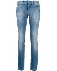 Dolce & Gabbana Jean skinny à effet délavé - Bleu