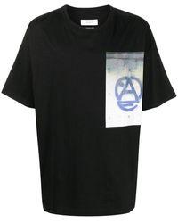 Facetasm プリント Tシャツ - ブラック