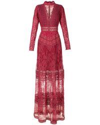 Martha Medeiros Kim Evening Dress - Red