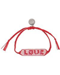 Venessa Arizaga Love Beaded Bracelet - Red