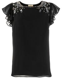 Liu Jo Bead Embellished Blouse - Black