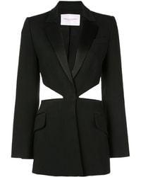 Carolina Herrera カットアウト シングルジャケット - ブラック