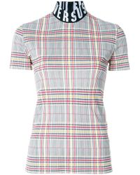 Versus - Checked Logo-band Top - Lyst