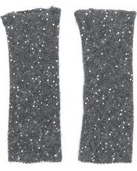 Fabiana Filippi - Sequin Embellished Fingerless Gloves - Lyst