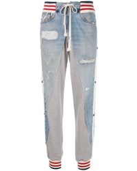 Greg Lauren - Denim Panel joggers - Lyst