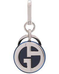 Giorgio Armani Logo-plaque Keyring - Blue