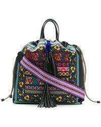 Etro - Embroidered Drawstring Bag - Lyst