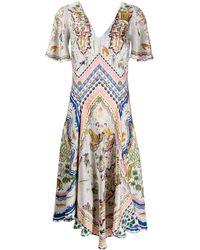 Liberty Sedona Emma スカーフドレス - マルチカラー