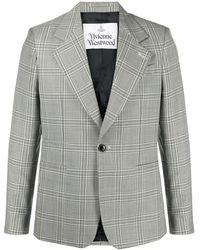 Vivienne Westwood チェック シングルジャケット - グレー